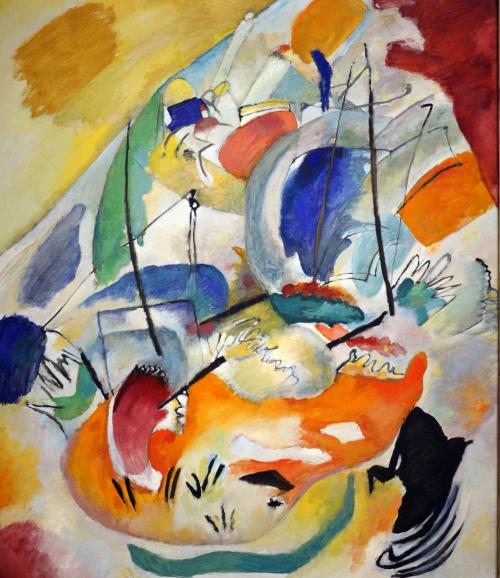 Kandinsky, Wassily, Russian, 1866 - 1944Improvisation 31 (Sea Battle) 1913 oil on canvas overall: 140.7 x 119.7 cm (55 3/8 x 47 1/8 in.) Ailsa Mellon Bruce Fund 1978.48.1