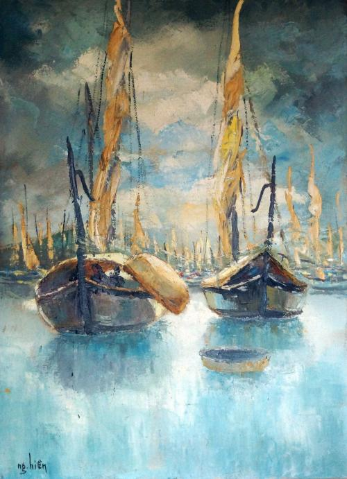 Boat Scene 3 -- Nguyễn Hiển