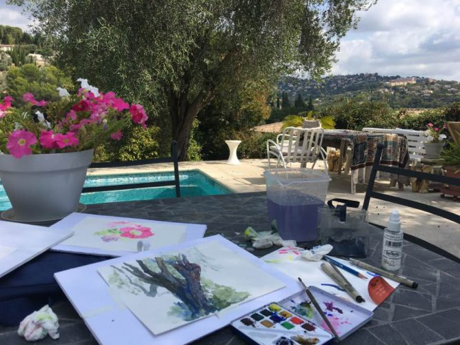Marietta's studio by the Villa Ndio pool