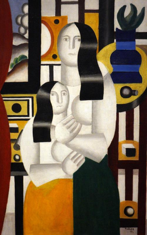 Léger, Fernand, French, 1881 - 1955Two Women 1922 oil on canvas overall: 90.8 x 58.4 cm (35 3/4 x 23 in.) framed: 118.7 x 86.3 x 6.3 cm (46 3/4 x 34 x 2 1/2 in.) Gift of Richard S. Zeisler 1991.37.1