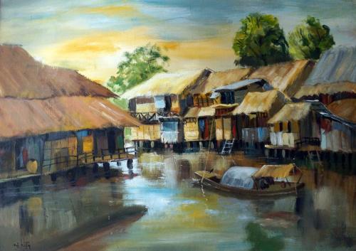 Village Scene 2 -- Nguyễn Hiển