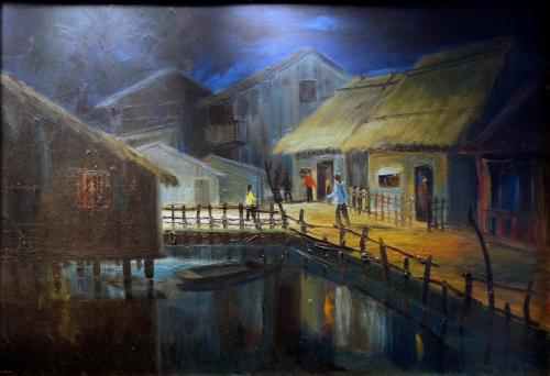 Village Scene -- Nguyễn Hiển