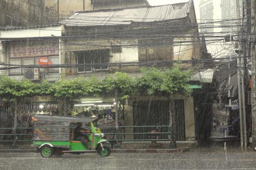 Bangkok rainy day